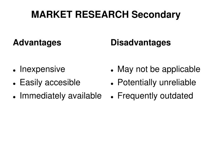 Market research secondary