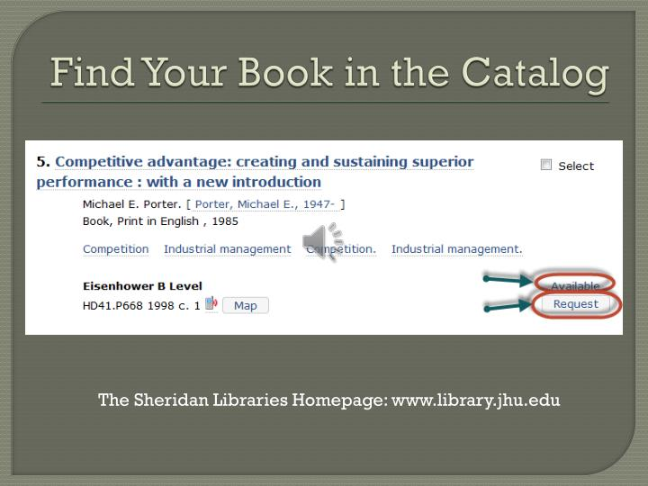Find your book in the catalog