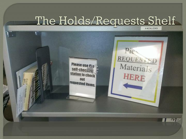 The Holds/Requests Shelf