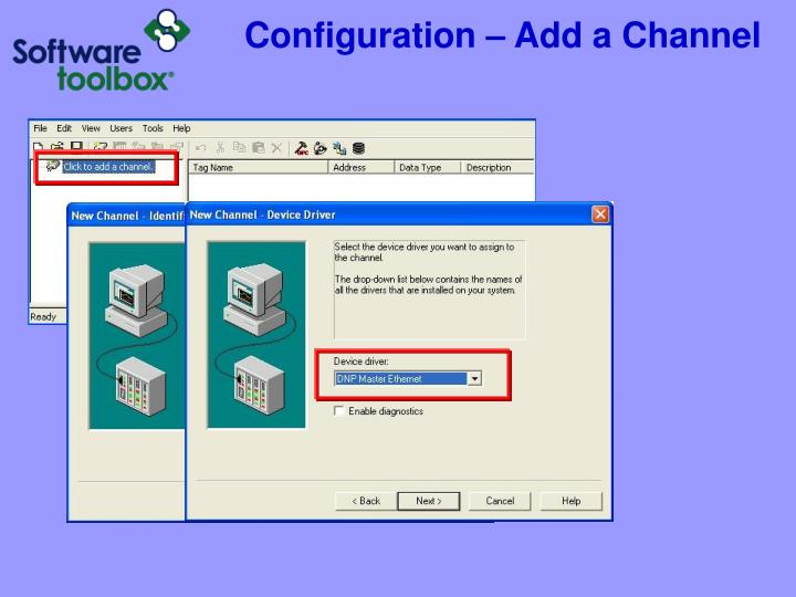 Configuration – Add a Channel