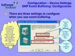 configuration device settings dnp event buffering configuration