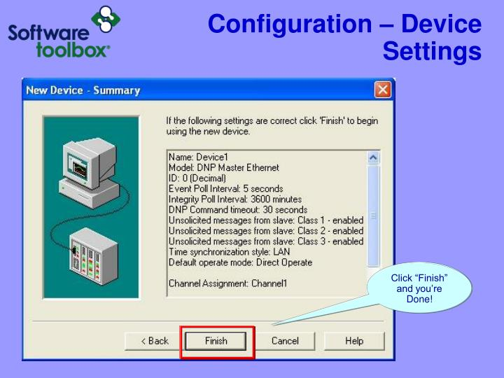 Configuration – Device Settings