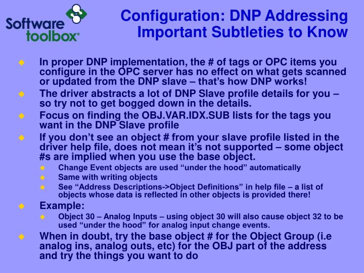 Configuration: DNP Addressing