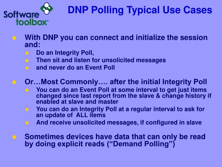 DNP Polling Typical Use Cases
