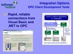 integration options opc client development tools