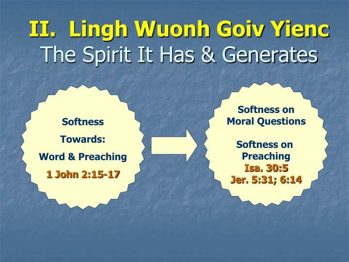 II.  Lingh Wuonh Goiv Yienc