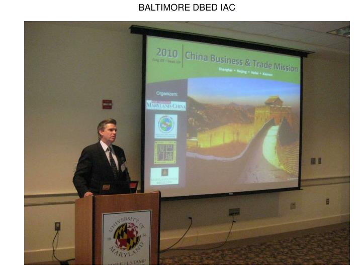 BALTIMORE DBED IAC