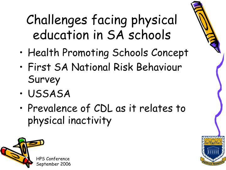 Challenges facing physical education in SA schools