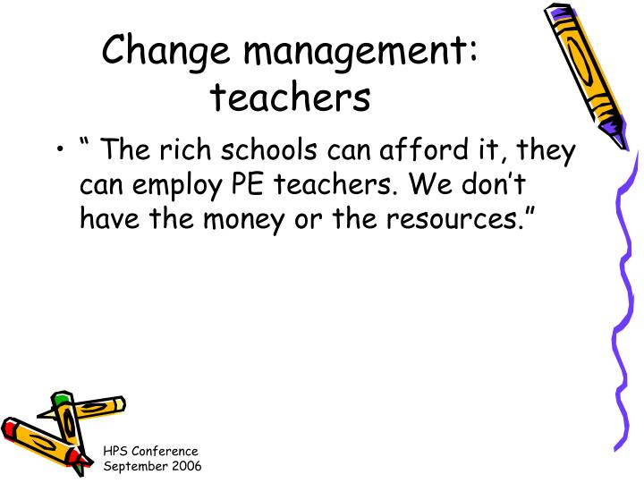 Change management: teachers