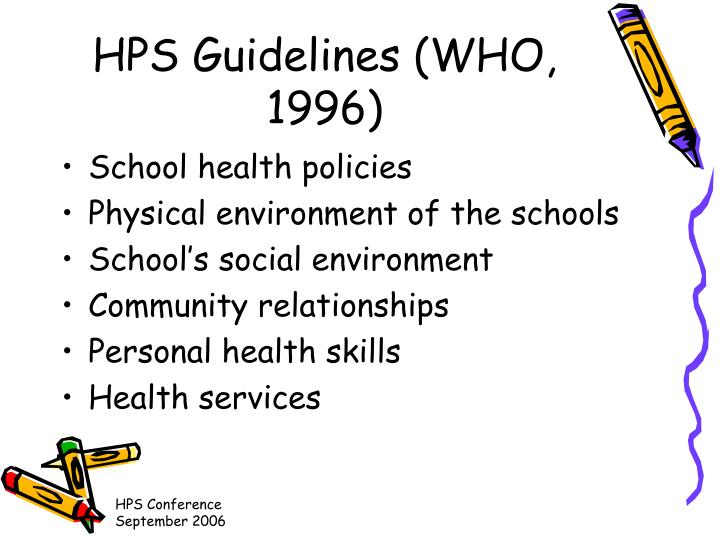HPS Guidelines (WHO, 1996)