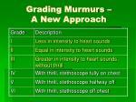 grading murmurs a new approach