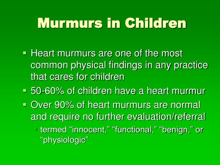 Murmurs in Children
