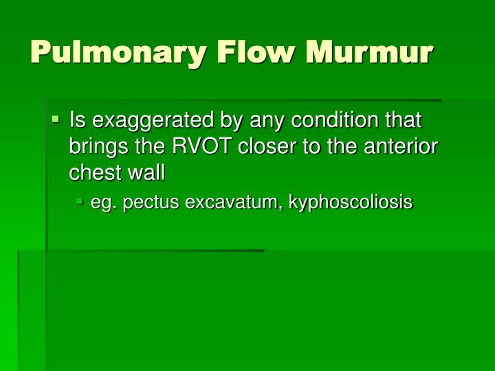 Pulmonary Flow Murmur