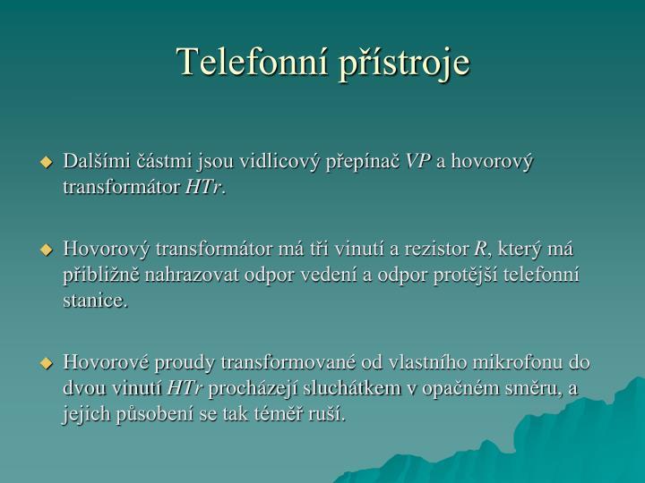 Telefonní přístroje