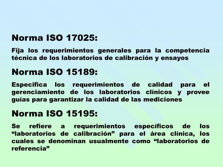 Norma ISO 17025: