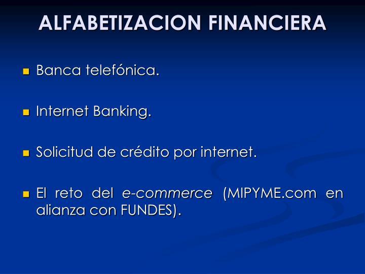 ALFABETIZACION FINANCIERA