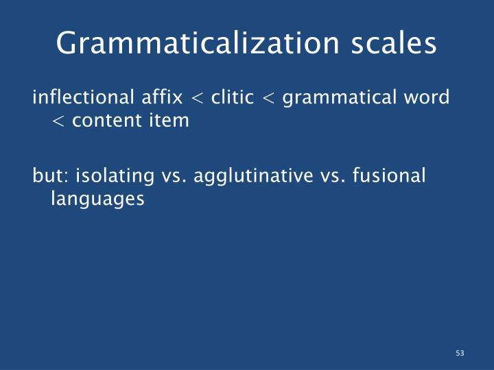 Grammaticalization scales