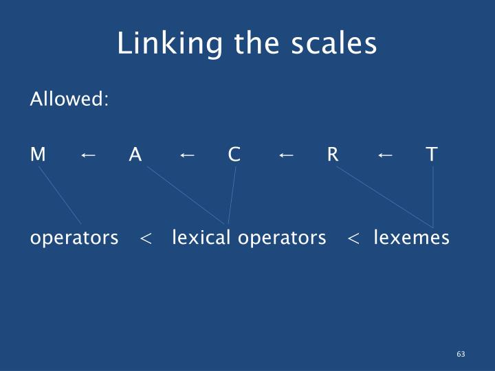 Linking the scales