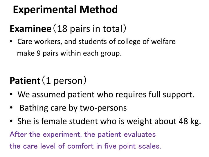 Experimental M