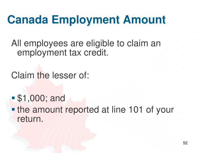 Canada Employment Amount
