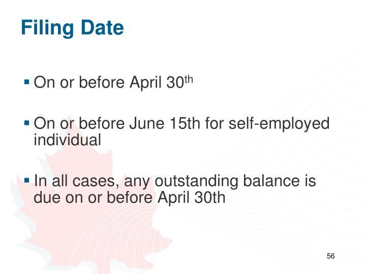 Filing Date