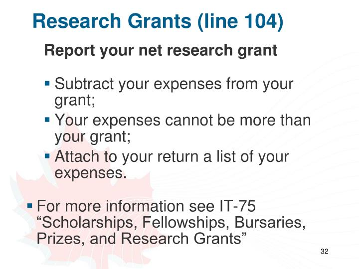 Research Grants (line 104)