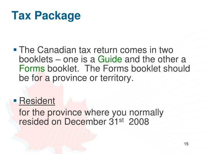 Tax Package
