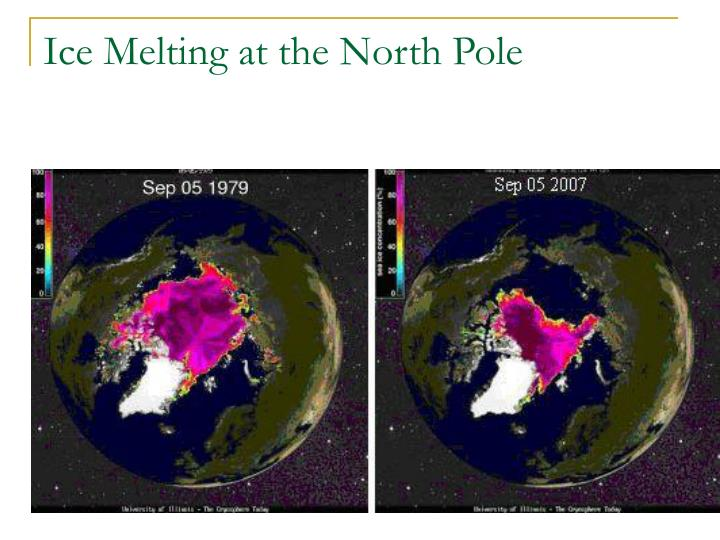 Ice Melting at the North Pole