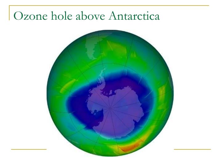 Ozone hole above Antarctica