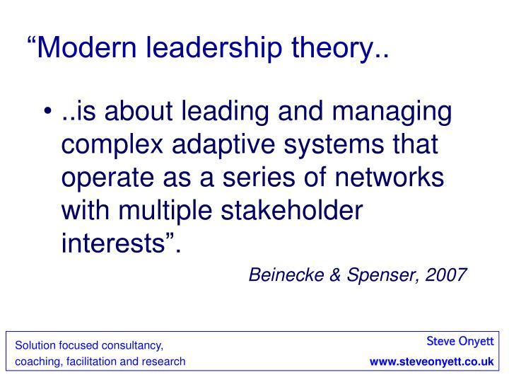 """Modern leadership theory.."