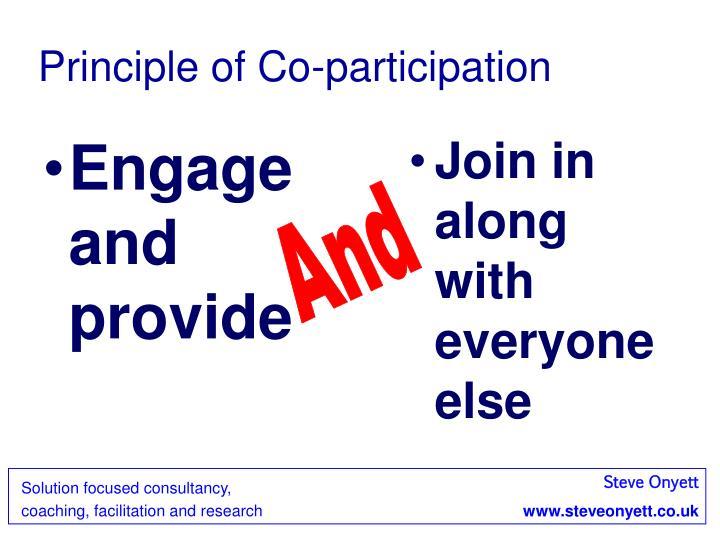 Principle of Co-participation
