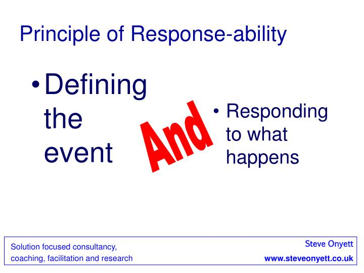 Principle of Response-ability