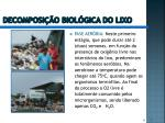 decomposi o biol gica do lixo