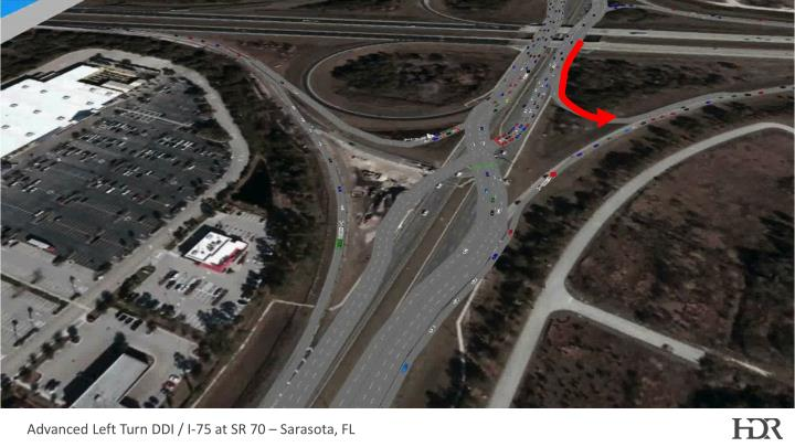 Advanced Left Turn DDI / I-75 at SR 70 – Sarasota, FL