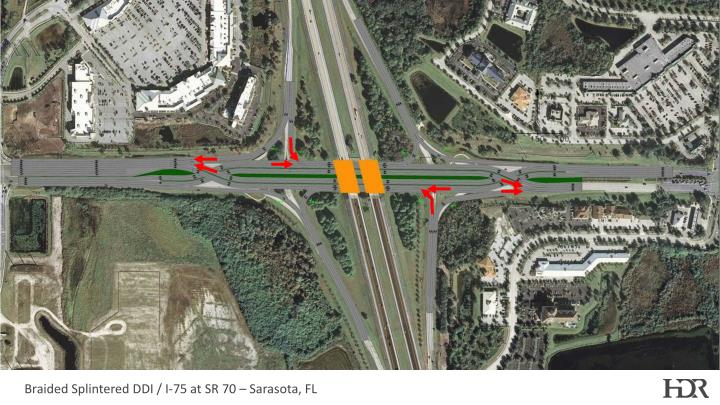 Braided Splintered DDI / I-75 at SR 70 – Sarasota, FL