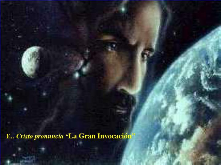 Y... Cristo pronuncia