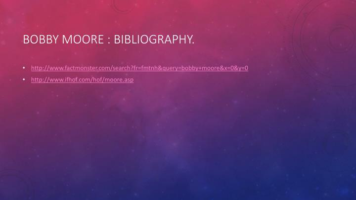 Bobby Moore : Bibliography.