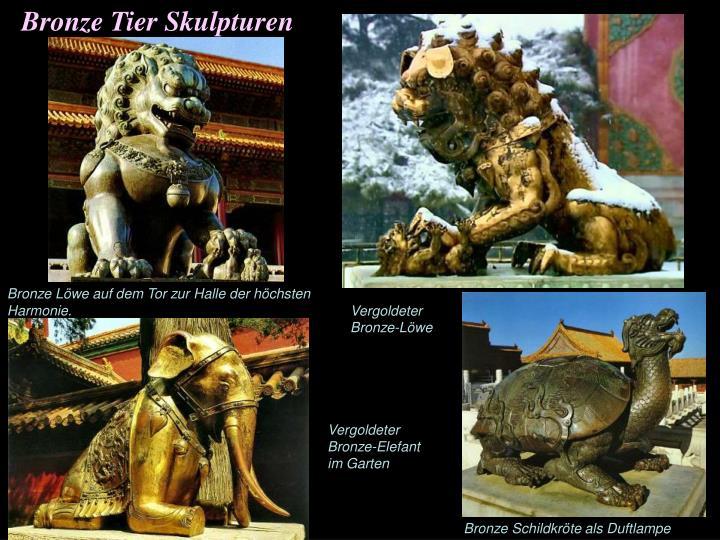 Bronze Tier Skulpturen