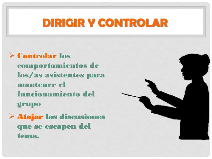Dirigir y controlar