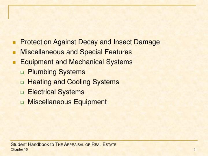 Protection Against Decay and Insect Damage