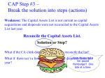 cap step 3 break the solution into steps actions