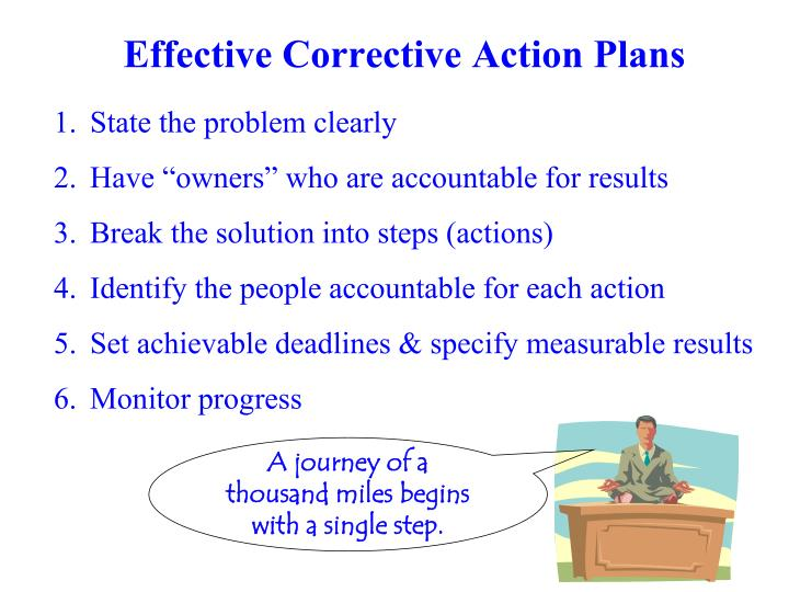 Effective Corrective Action Plans