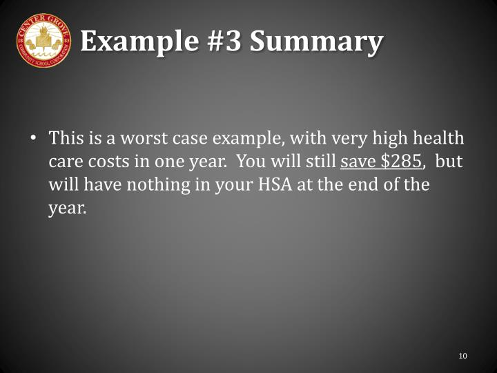 Example #3 Summary