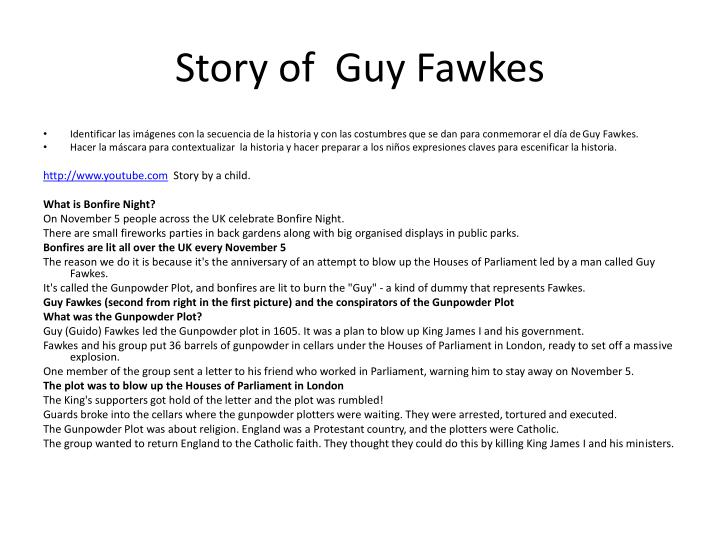 Story of  Guy Fawkes