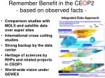 remember benefit in the ce o p2 based on observed facts