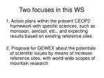 two focuses in this ws