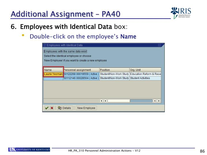 Additional Assignment – PA40