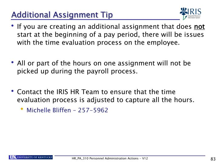 Additional Assignment Tip
