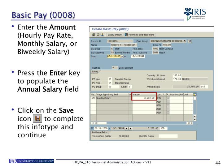Basic Pay (0008)