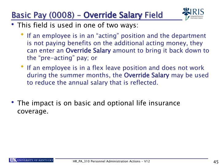 Basic Pay (0008) –